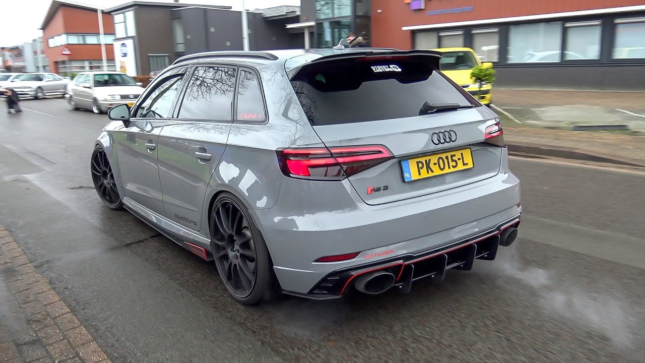 530HP Stage 2 Audi RS3 8V Sportback with Milltek Exhaust - LOUD Accelerations & Revs !