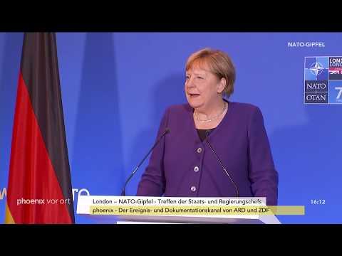 NATO-Gipfel: Statement von Angela Merkel zum Abschluss am 04.12.19