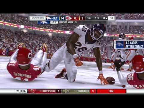 IGNFL 2016 Week Sixteen Broncos Chiefs