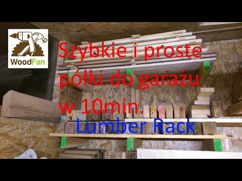Szybki I Prosty Regałpółka Do Garażu Diy Lumber Rack Simple