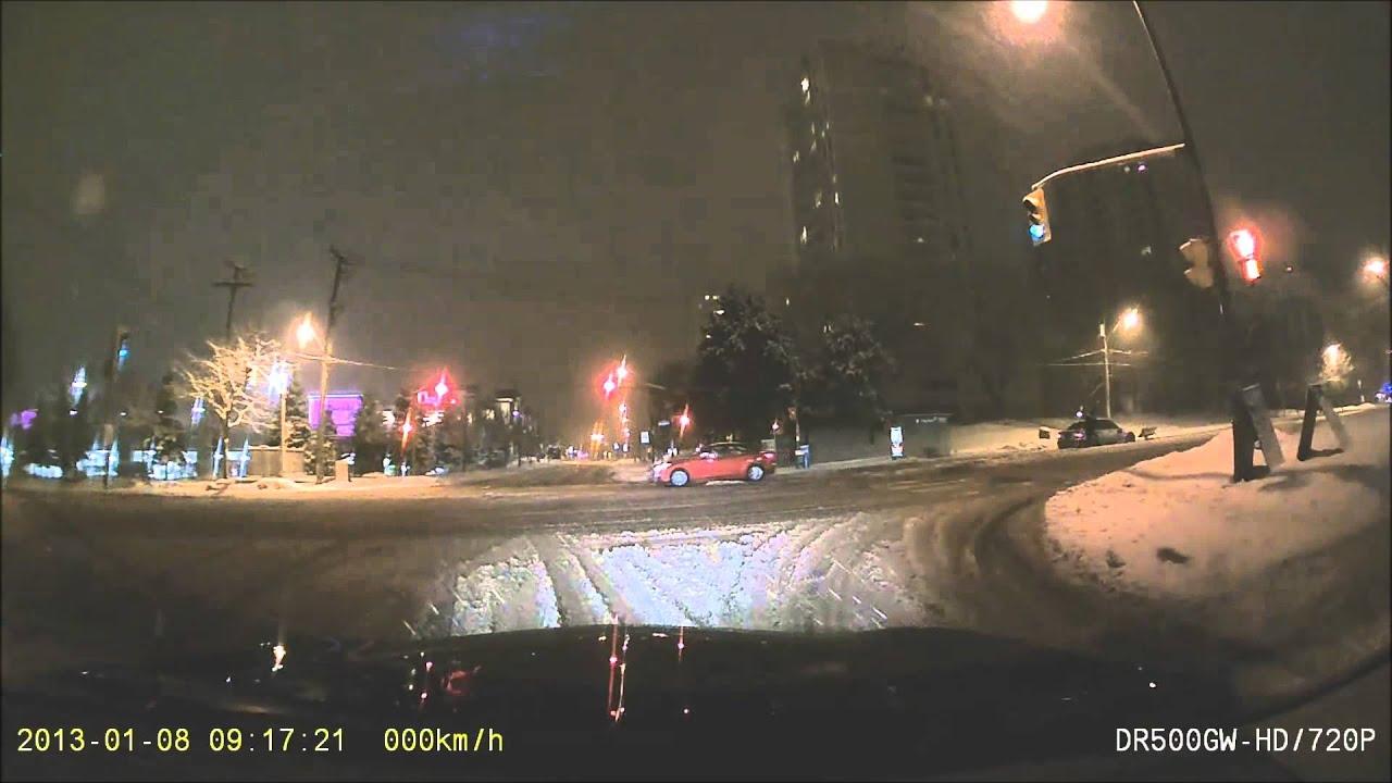 traffic light sheppard & rean snow storm february 1, 2014 toronto ...