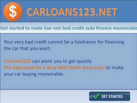 Really Bad Credit Car Loans - YouTube