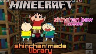 Shinchan made library | shinchan minecraft | shinchan bow masao | shinchan | by xyz gamxr |xyz gamxr