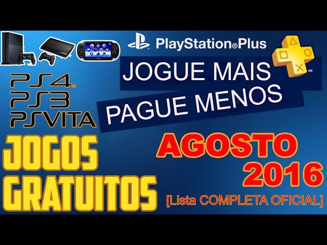 PSN Plus Jogos Grátis Para Agosto de 2016 [ Lista OFICIAL ]
