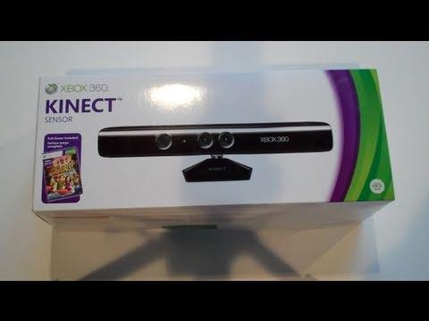 Microsoft Xbox 360 Kinect Unboxing - YouTube