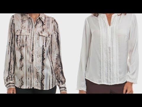 BLUSAS  Y BLUSONES PARA SEÑORAS DE 50 Y 60 AÑOS  / Blusas Modernas Y Bonitas / New Style