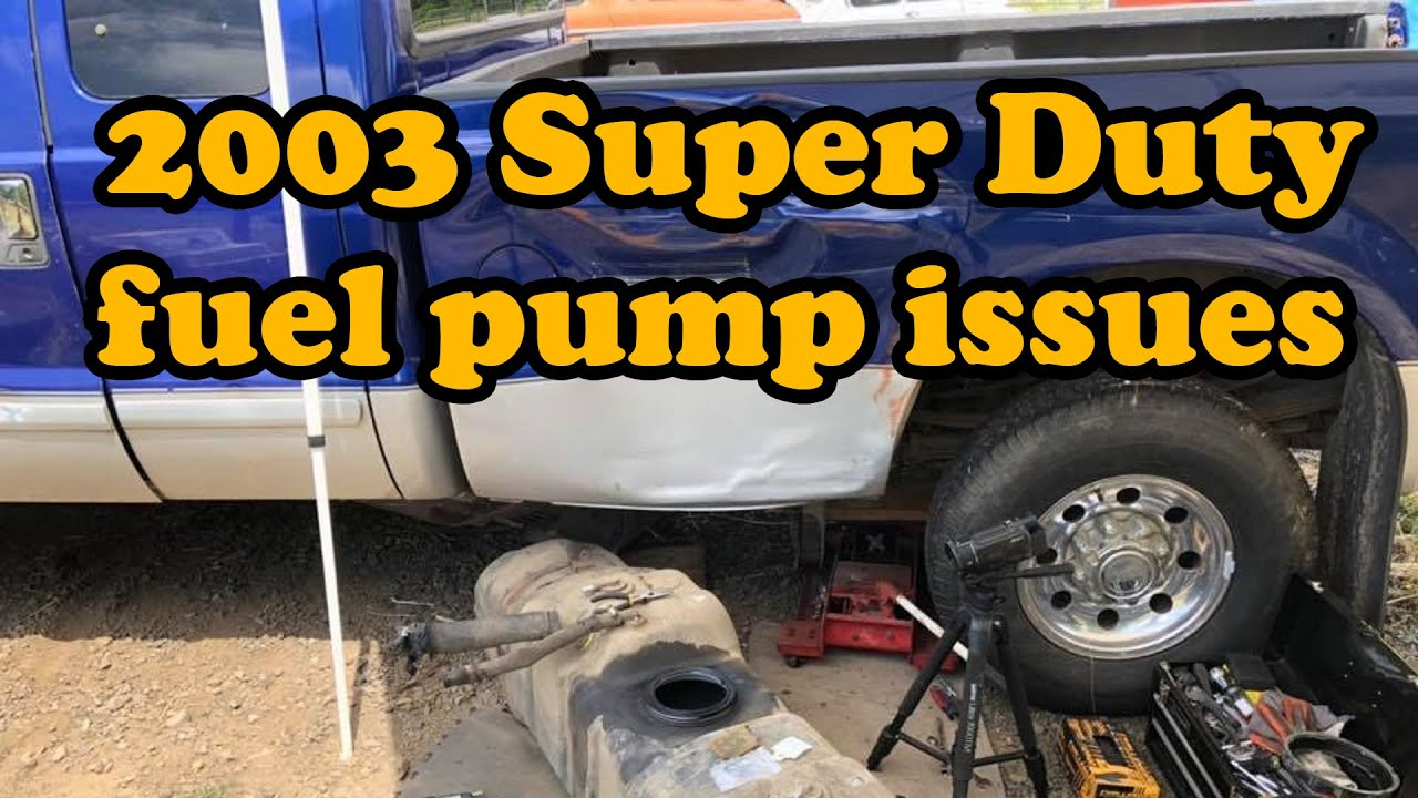2003 Ford Super Duty V10 6 8 Fuel Pump Replacement And Electrical Rabbit Chase Youtube