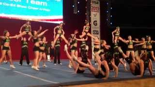 University of Regina Cheerleading - USA Collegiate Nationals 2013 - Day 1 - Small Coed