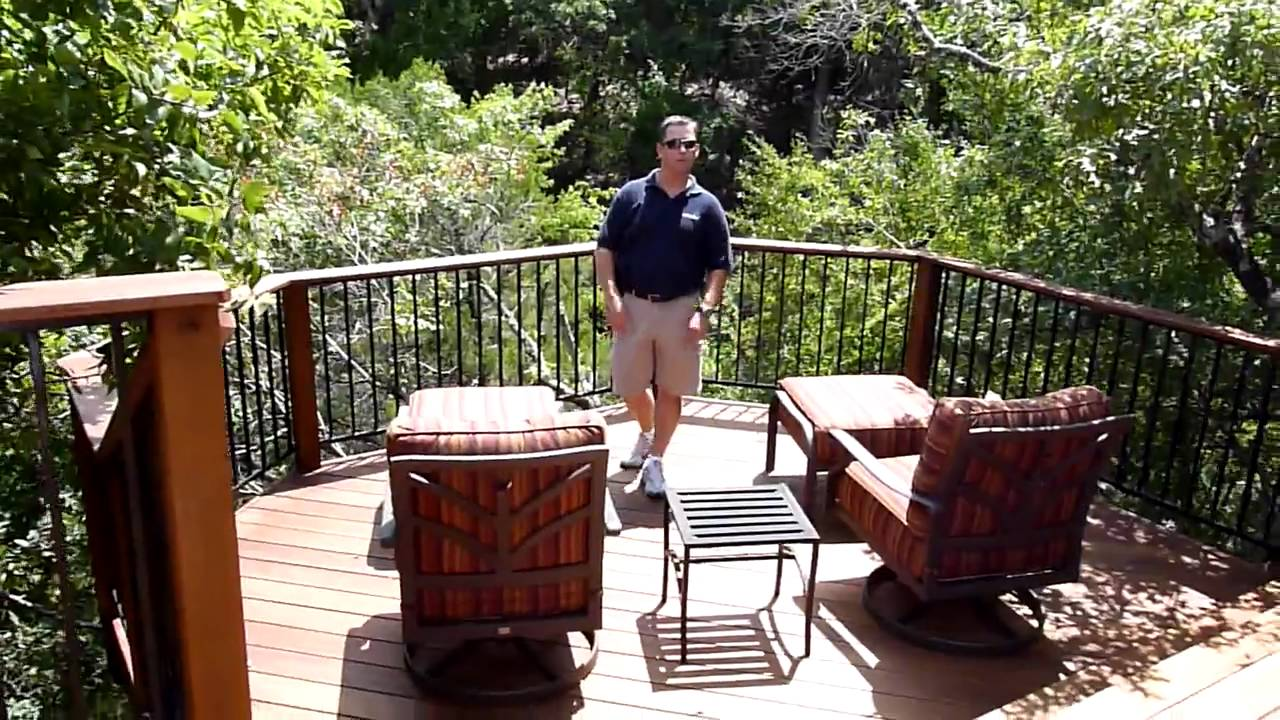 austin barton creek deck with outdoor fireplace youtube
