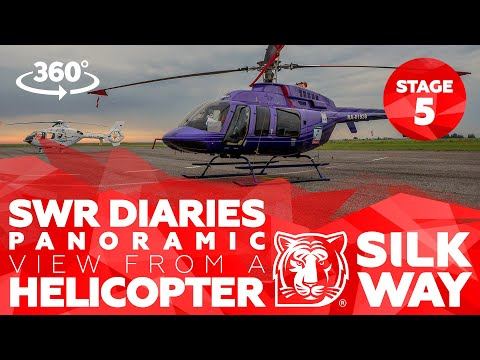 360 Video: Silk Way Diaries - Panoramic view of stage 5 from a helicopter| Silk Way Rally 2018🌏