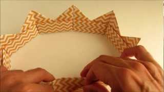 Easy Origami Modular Crown