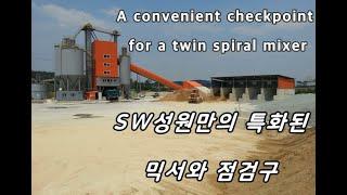 Twin spiral concrete mixer mad…