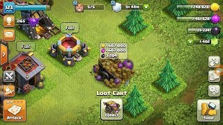 Clash Of Clans Dead Base Loot Cart 😱