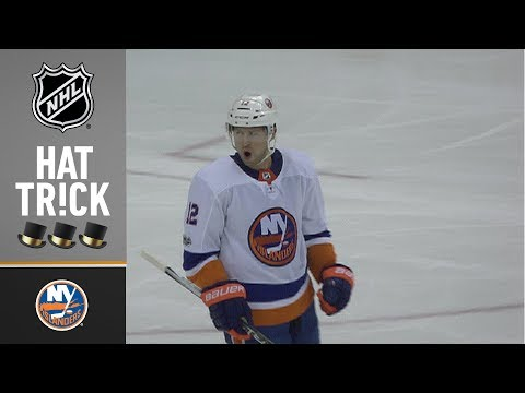 Josh Bailey records his first career hat trick