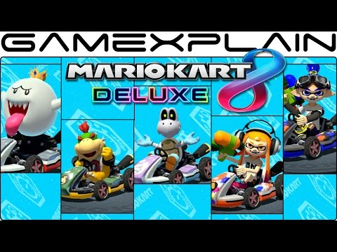 Mario Kart 8 Deluxe: Gameplay of All 5 NEW Characters (King Boo, Bowser Jr, Dry Bones, & Inklings)