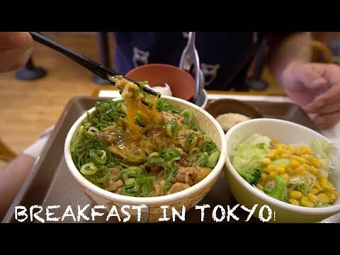 Eating Breakfast in Tokyo  -  My Breakfast in Japan