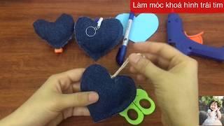 Tự Làm Chiếc Móc Khoá Hình Trái Tim | Make Heart-Shaped Keychains | Móc Khoá HandMade