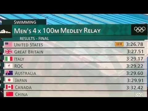 Caleb Dressel Paces Mens 4x100 Medley Relay Gold Medal Winning Team