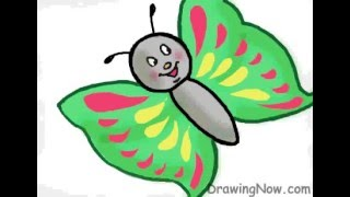 How to Draw Hello Butterfly