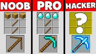 Minecraft Battle: NOOB vs PRO vs HACKER : SUPER PICKAXE Challenge in Minecraft Animation
