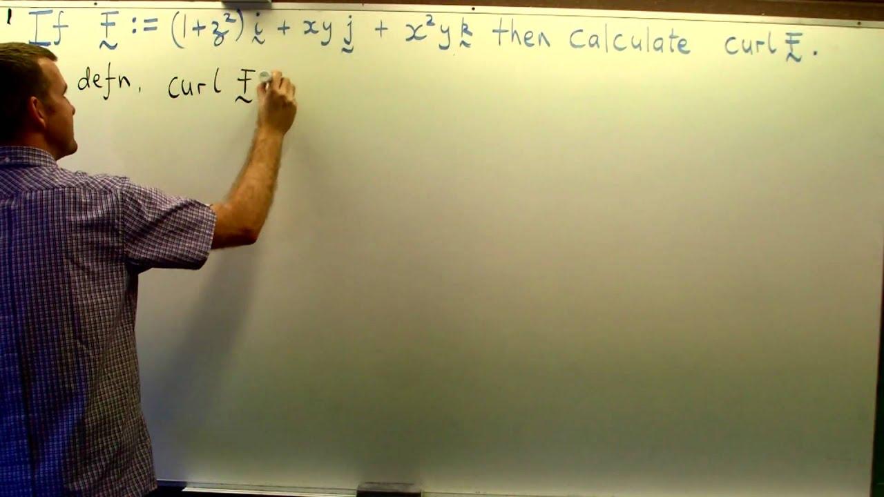 Curl of a vector field (ex. no.1): Vector Calculus