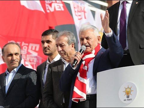 Başbakan Yıldırım, İstanbul Arnavutköy'de halka hitap etti