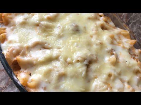 Mutton mince pasta with white sauce recipe cheesy kheema pasta with bechamel sauce recipe