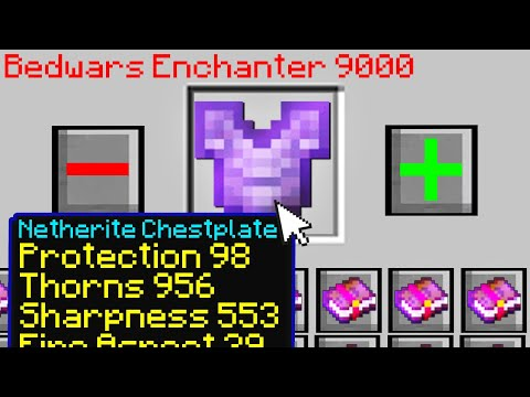 Minecraft Bedwars but you can use any enchant you want...