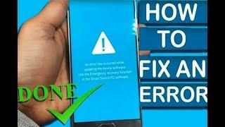 How To Fix Samsung Galaxy Flash Failed