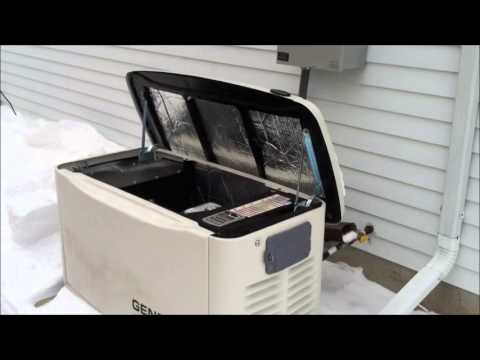 Generac Guardian Series 17KW Home Generator Winter Cold Start 14