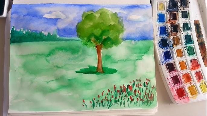 Sulu Boya Manzara Resmi Sanatin Renkleri Youtube