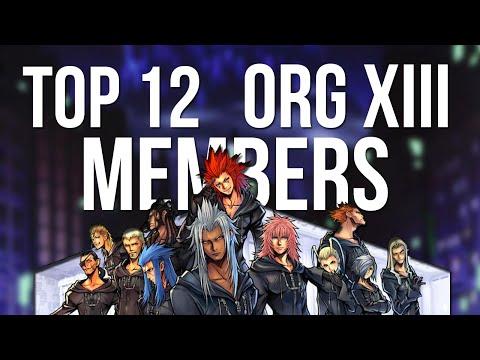 Kingdom Hearts - Top 12 Organization XIII Members