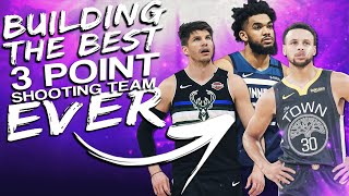 i was challenged to create the best 3 point shooting team in nba history