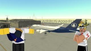 Aqua Airways Airbus A220 Flight Experience [ROBLOX] | Rutronix Aviation