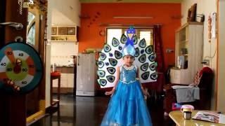 Peacock fancy dress costume award winning design competition Khushi