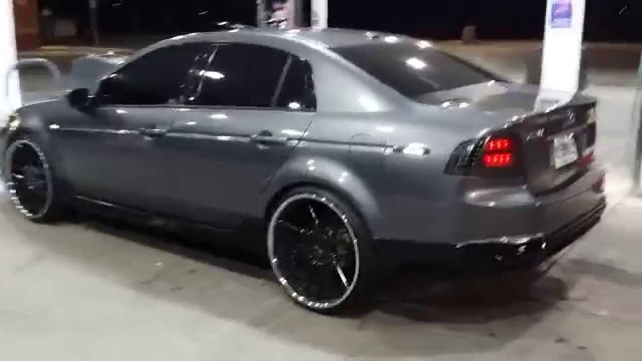 Acura Tl Wheels >> 06 Acura TL on Staggered 22's - YouTube