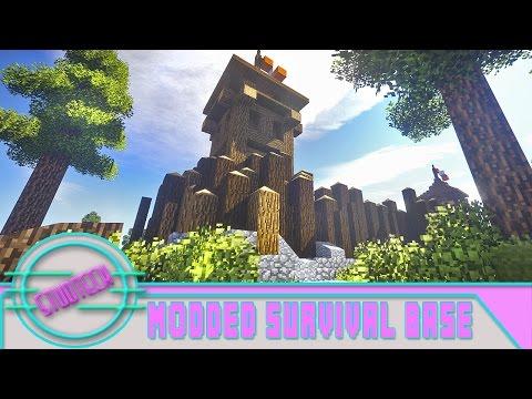 Minecraft: Modded Survival Base Build - Fort Design (Stud Tech Ep.6)