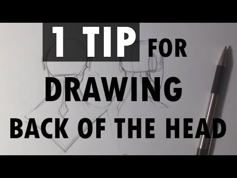 1 tip for drawing the back of the head easy things to draw youtube
