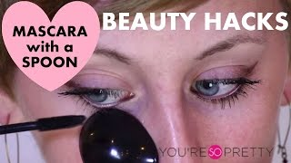 Beauty Hacks | Perfect Mascara Using a Spoon | Makeup Tutorial Thumbnail