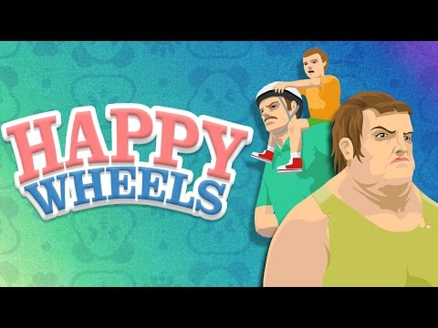 Panda the Pogo Guy + Trying An Impossible Level - HAPPY WHEELS FUNNY MOMENTS
