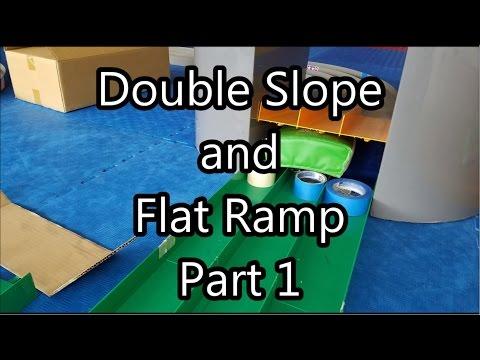【ミニ四駆】Tamiya Mini 4WD Racing: Double Slope and Flat Ramp Part 1