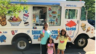 Kids Buying Ice Cream from the Ice Cream Truck Pretend Play video