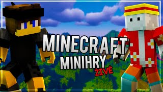 Minecraft minihry ŽIVĚ s Kelem! 😋