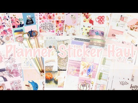 Planner Stickers and Accessories Haul
