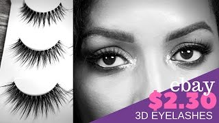 Ebay Find | $2.30 3D 25 Eyelashes 3 Pairs Demo & Review