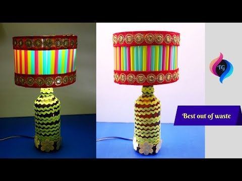 DIY Lamp - How to Make a Lampshade from Recycled Materials - Best Out of Waste Lamp Shade