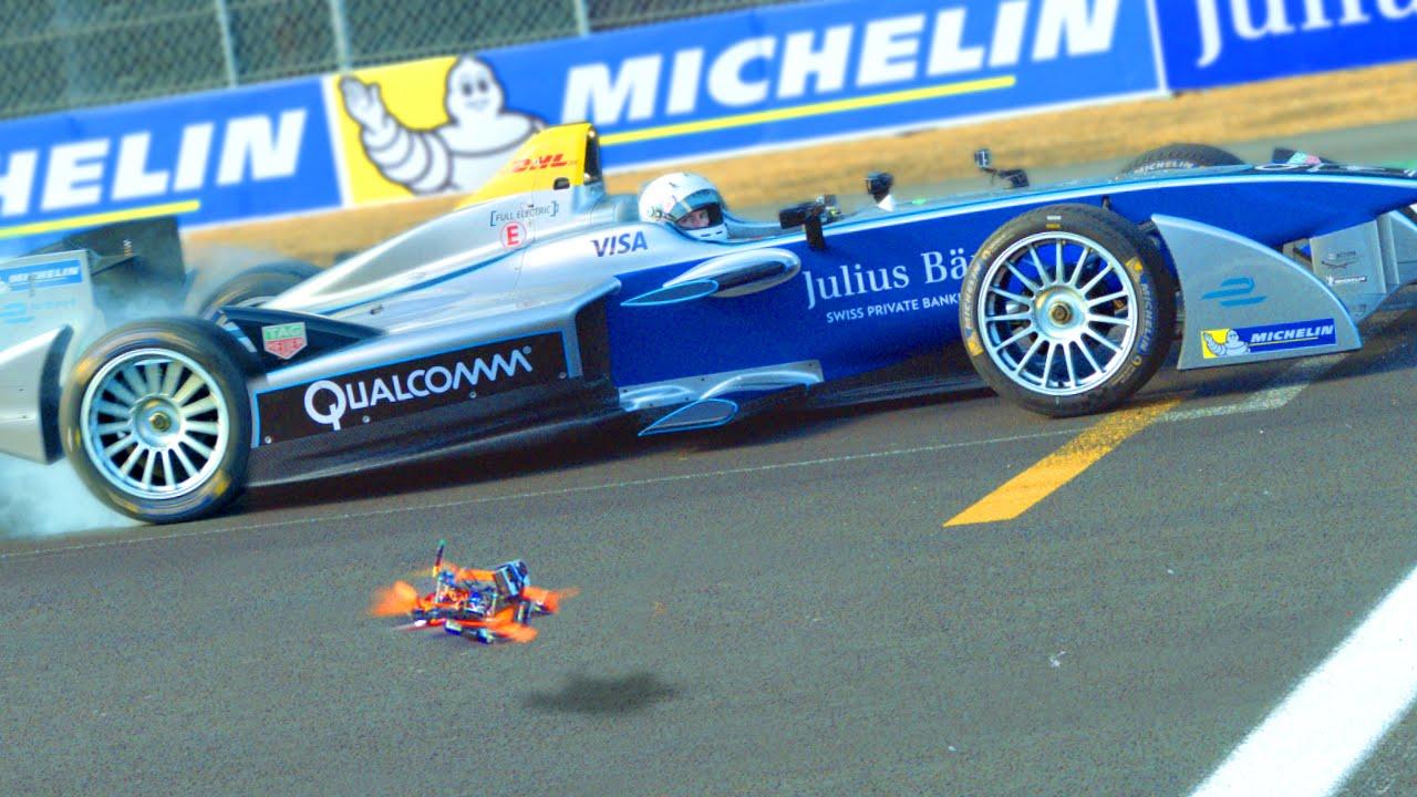 The Chase Drone Vs Formula E Car
