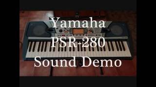 PSR 280 Sound Demo (take 2) Resimi