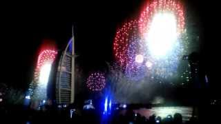 Dubai Fireworks 2014 - New Year's Eve - Burj Al Arab