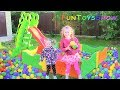 Full Pool Balls for Kids - Learn Colors with  Girls | Funny video for Baby